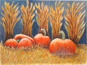 Pumpkins in the Corn